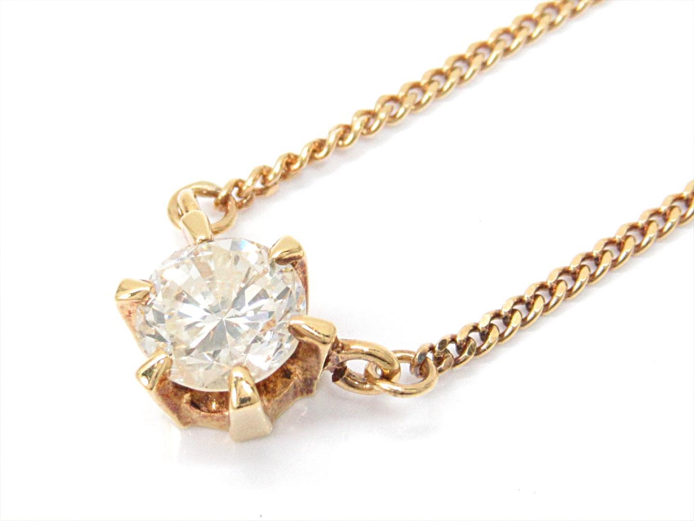【中古】【送料無料】ジュエリー ダイヤモンドネックレス レディース K18YG(750) イエローゴールドxダイヤモンド(0.64ct) | JEWELRY ネックレス K18 18K 18金 美品 ブランドオフ BRANDOFF