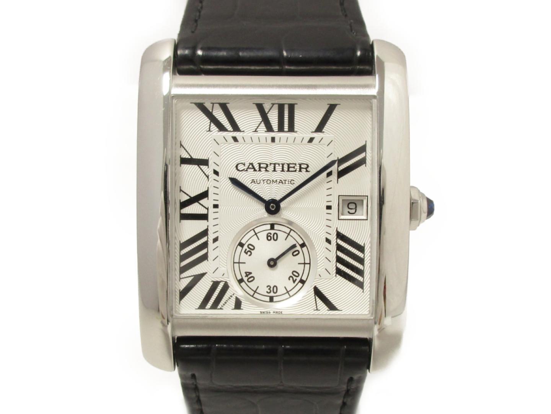 【中古】【送料無料】カルティエ タンクMC 腕時計 ウォッチ メンズ ステンレススチール(SS)×レザーベルト (W5330003)   Cartier オートマチック 自動巻き 時計 WATCH タンク MC 美品 ブランド ブランドオフ BRANDOFF