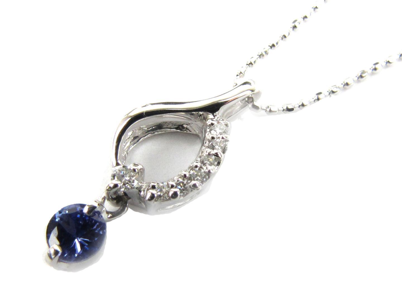 【送料無料】ジュエリー タンザナイト ダイヤモンド ネックレス レディース K18YG(750) イエローゴールド x タンザナイト x ダイヤモンド(0.08ct) | JEWELRY ネックレス 新品 18K K18 18金 ブランドオフ BRAND OFF