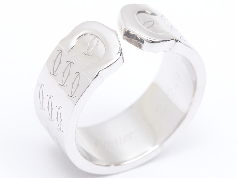 【中古】【送料無料】カルティエ 2Cリング Xmas限定 指輪 メンズ レディース K18WG(750) ホワイトゴールド | Cartier リング ジュエリー 美品 18K K18 18金 ブランド ブランドオフ BRAND OFF