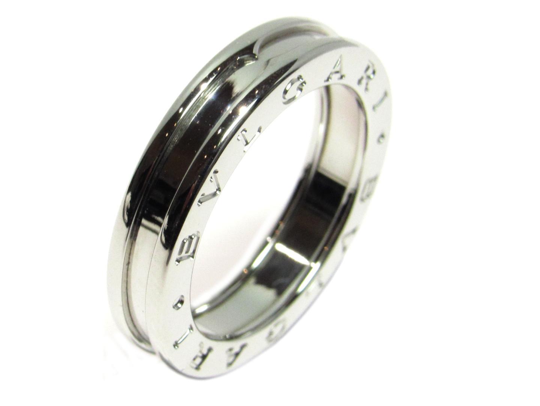 【中古】【送料無料】ブルガリ B-zero1 ビーゼロワン リング 指輪 XSサイズ メンズ レディース K18WG(750) ホワイトゴールド | BVLGARI リング ジュエリー 美品 18K K18 18金 ブランド ブランドオフ BRAND OFF