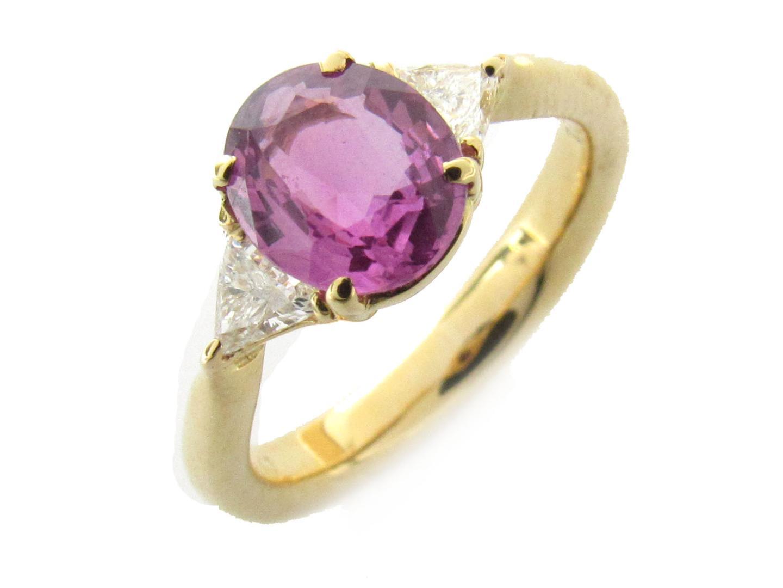 【中古】【送料無料】ジュエリー サファイア ダイヤモンド リング 指輪 レディース K18YG(750) イエローゴールド x サファイア(1.45ct) x ダイヤモンド(0.24ct) | JEWELRY リング 美品 18K K18 18金 ブランドオフ BRAND OFF
