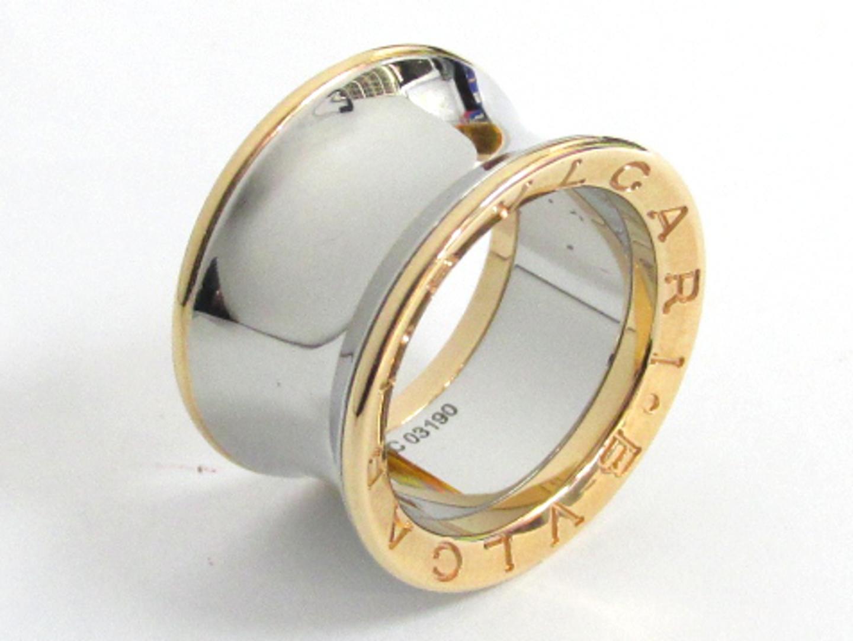 【中古】【送料無料】ブルガリ アニッシュカプーアリング 指輪 メンズ レディース K18PG(750) ピンクゴールド×SS(ステンレススチール) | BVLGARI リング ジュエリー 美品 18K K18 18金 ブランド ブランドオフ BRAND OFF