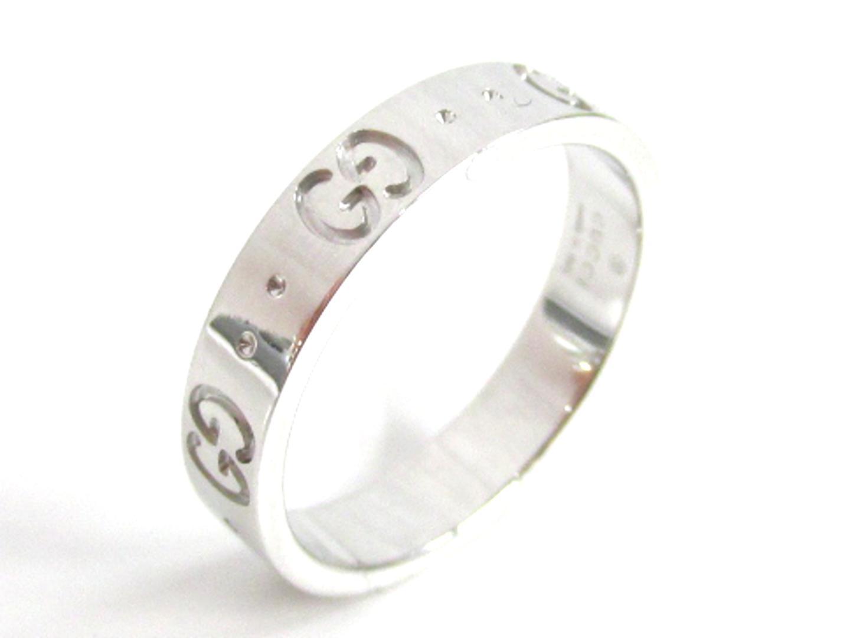 【中古】グッチ アイコンリング 指輪 レディース K18WG(750) ホワイトゴールド | GUCCI リング ジュエリー 美品 18K K18 18金 ブランド ブランドオフ BRAND OFF