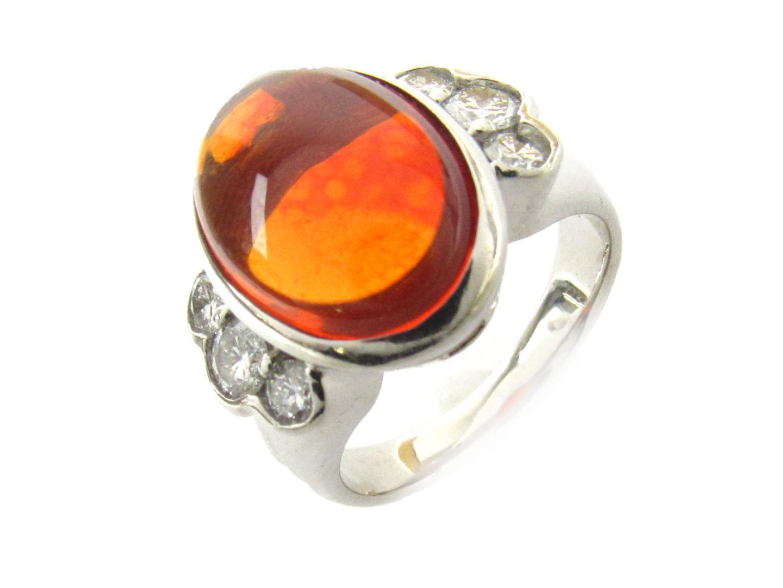 【中古】【送料無料】ジュエリー オパール ダイヤモンド リング 指輪 レディース PT900 プラチナ x オパール(4.39ct) x ダイヤモンド(0.62ct) | JEWELRY リング 美品 ブランドオフ BRAND OFF