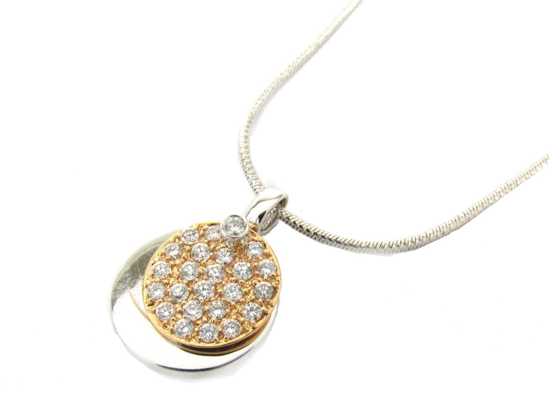 【中古】【送料無料】ジュエリー ダイヤモンド ネックレス レディース K18WG(750) ホワイトゴールド x ダイヤモンド(0.66ct) | JEWELRY ネックレス 美品 18K K18 18金 ブランドオフ BRAND OFF