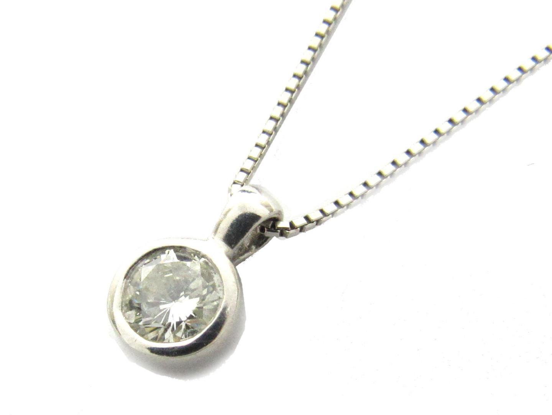 【中古】【送料無料】ジュエリー ダイヤモンド ネックレス レディース PT900 プラチナ x PT850 プラチナ x ダイヤモンド(0.40ct) | JEWELRY ネックレス 美品 ブランドオフ BRAND OFF
