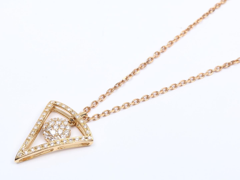 【中古】【送料無料】ジュエリー ダイヤモンド ネックレス レディース K18YG(750) イエローゴールドx K18PG ピンクゴールド x ダイヤモンド (0.69ct/0.33ct) | JEWELRY ネックレス 美品 ブランドオフ BRANDOFF