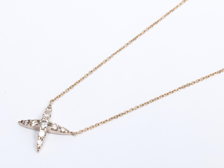 【中古】【送料無料】ジュエリー ダイヤモンド ネックレス レディース K18YG(750) イエローゴールド x ダイヤモンド (0.50ct) | JEWELRY ネックレス 美品 18K K18 18金 ブランドオフ BRAND OFF