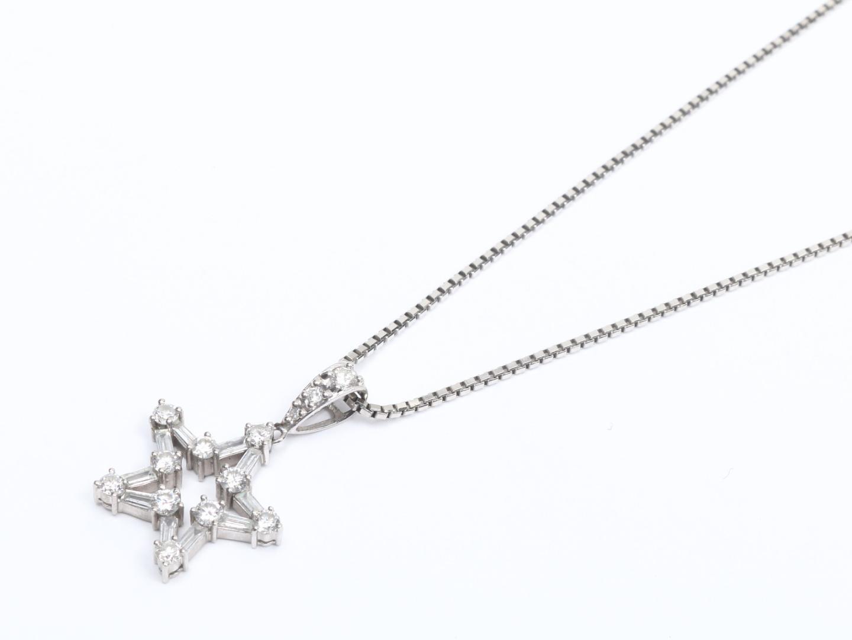 【中古】【送料無料】ジュエリー ダイヤモンド ネックレス レディース PT850 プラチナ x ダイヤモンド(1.00ct) | JEWELRY ネックレス 美品 ブランドオフ BRAND OFF