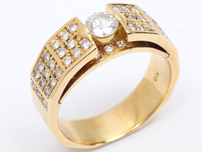 【中古】【送料無料】ジュエリー ダイヤモンド リング 指輪 レディース K18YG(750) イエローゴールド x ダイヤモンド (0.294/0.48ct) | JEWELRY リング 美品 18K K18 18金 ブランドオフ BRAND OFF