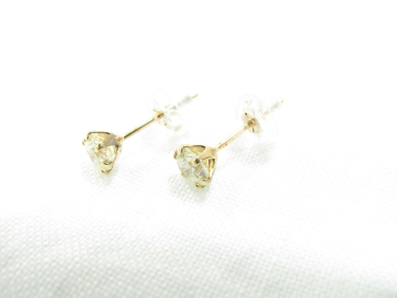 【中古】【送料無料】ジュエリー ダイヤモンド ピアス メンズ レディース K18PG(750) ピンクゴールド/ダイヤ(0.25ct/0.25ct) | JEWELRY ピアス 美品 18K K18 18金 ブランドオフ BRAND OFF