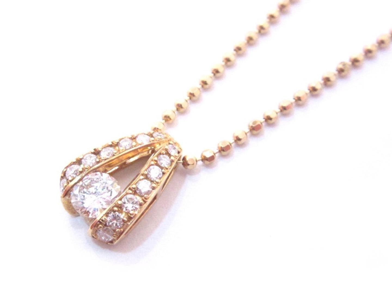【中古】【送料無料】ジュエリー ダイヤモンド ネックレス レディース K18YG(750) イエローゴールド x ダイヤモンド(0.35/0.20ct) ゴールド | JEWELRY ネックレス 美品 18K K18 18金 ブランドオフ BRAND OFF