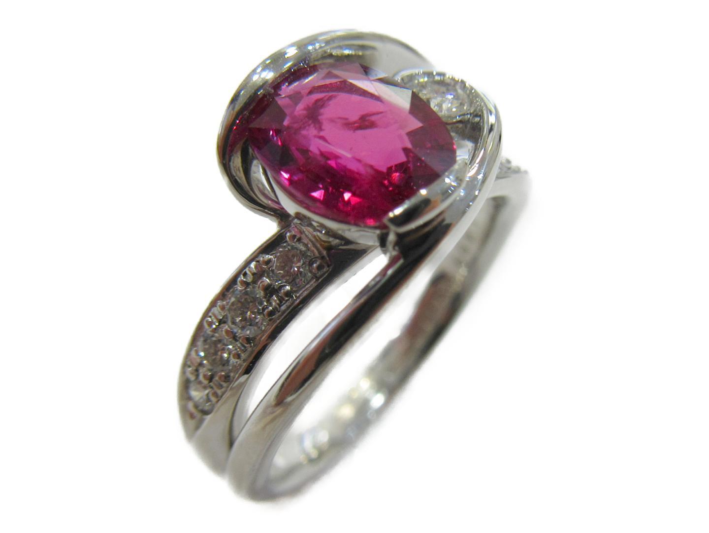 【中古】【送料無料】ジュエリー ルビー ダイヤモンドリング 指輪 レディース PT900 プラチナx ルビー(1.499)x ダイヤモンド(0.25ct) レッド | JEWELRY リング 美品 ブランドオフ BRAND OFF