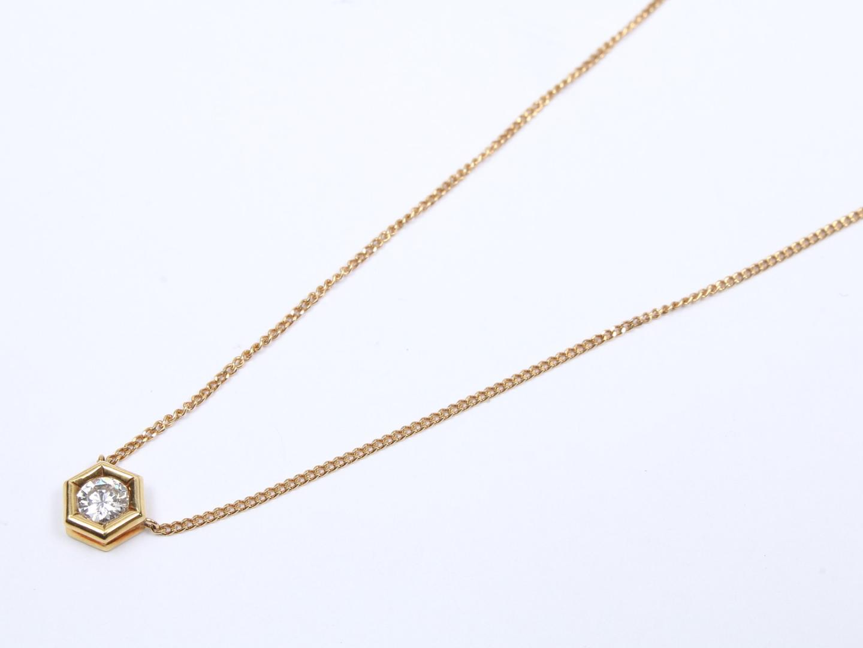 【中古】【送料無料】ジュエリー ダイヤモンド ネックレス レディース K18YG(750) イエローゴールド x ダイヤモンド (0.243ct) | JEWELRY ネックレス 美品 18K K18 18金 ブランドオフ BRAND OFF