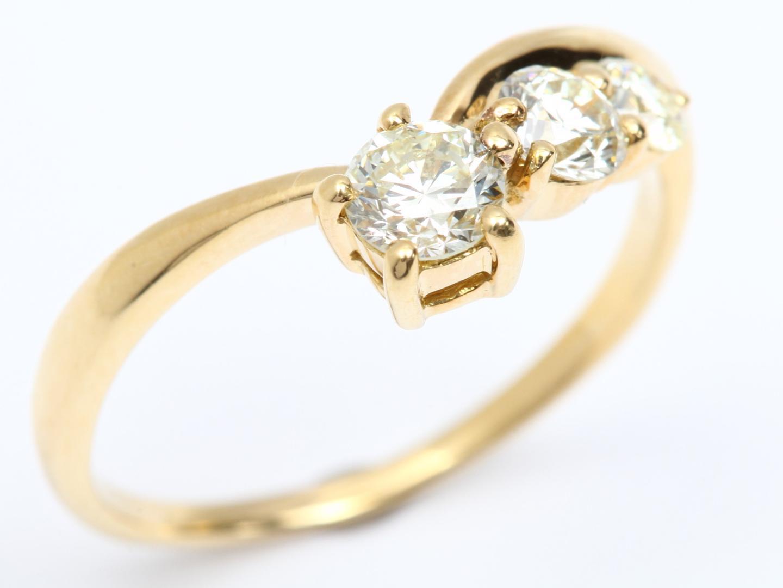 【中古】【送料無料】ジュエリー ダイヤモンド リング 指輪 レディース K18YG(750) イエローゴールド x ダイヤモンド(0.67ct) | JEWELRY リング 美品 18K K18 18金 ブランドオフ BRAND OFF