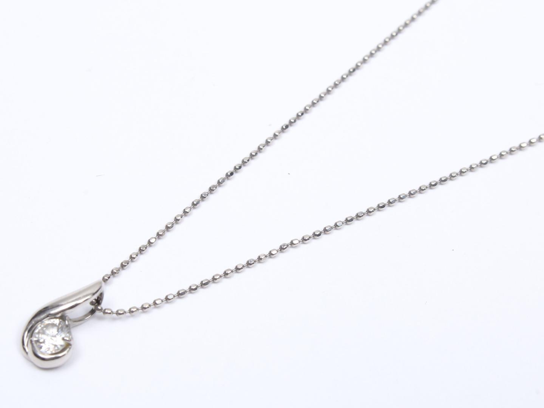 【中古】ジュエリー ダイヤモンド ネックレス レディース PT900 プラチナ x PT850 プラチナ x ダイヤモンド (0.20ct) | JEWELRY ネックレス 美品 ブランドオフ BRAND OFF