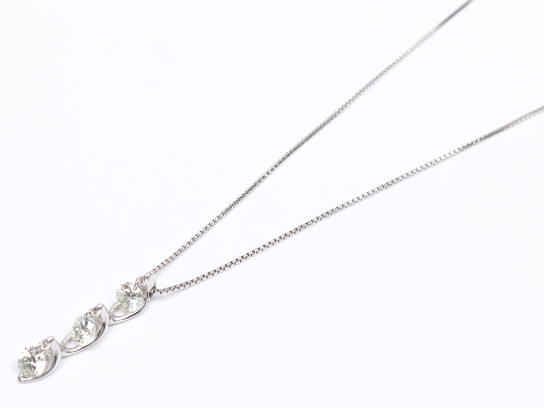 【中古】【送料無料】ジュエリー ダイヤモンド ネックレス レディース K18WG(750) ホワイトゴールド x ダイヤモンド (0.50ct) | JEWELRY ネックレス 美品 18K K18 18金 ブランドオフ BRAND OFF