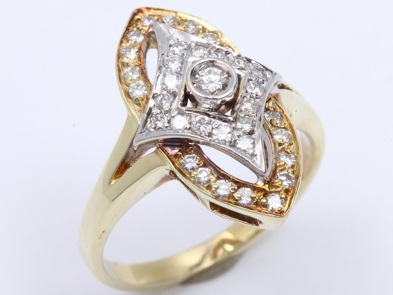 【中古】【送料無料】ジュエリー ダイヤモンド リング 指輪 レディース K14YG イエローゴールド x ダイヤモンド | JEWELRY リング 美品 ブランドオフ BRAND OFF