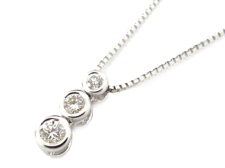 【送料無料】ジュエリー ダイヤモンド ネックレス レディース K18WG(750) ホワイトゴールド x ダイヤモンド(0.30ct) | JEWELRY ネックレス 新品 18K K18 18金 ブランドオフ BRAND OFF