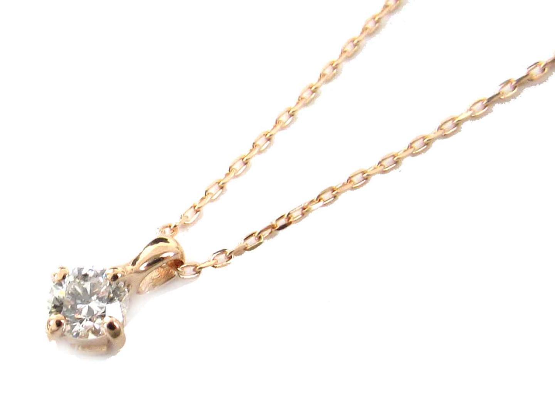 【送料無料】ジュエリー ダイヤモンド ネックレス レディース K18PG(750) ピンクゴールド x ダイヤモンド(0.13ct) | JEWELRY ネックレス 新品 18K K18 18金 ブランドオフ BRAND OFF