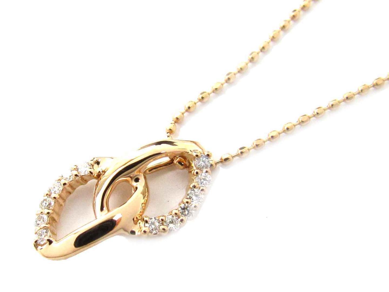 【送料無料】ジュエリー ダイヤモンド ネックレス レディース K18PG(750) ピンクゴールド x ダイヤモンド(0.09ct) | JEWELRY ネックレス 新品 18K K18 18金 ブランドオフ BRAND OFF