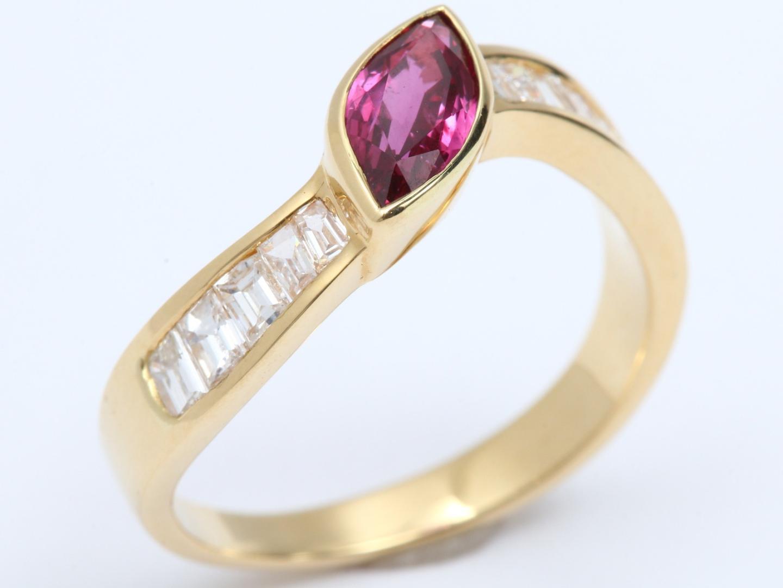 【中古】【送料無料】ジュエリー ルビー ダイヤモンド リング 指輪 レディース K18YG(750) イエローゴールド x ルビー x ダイヤモンド 石目無し | JEWELRY リング 美品 18K K18 18金 ブランドオフ BRAND OFF