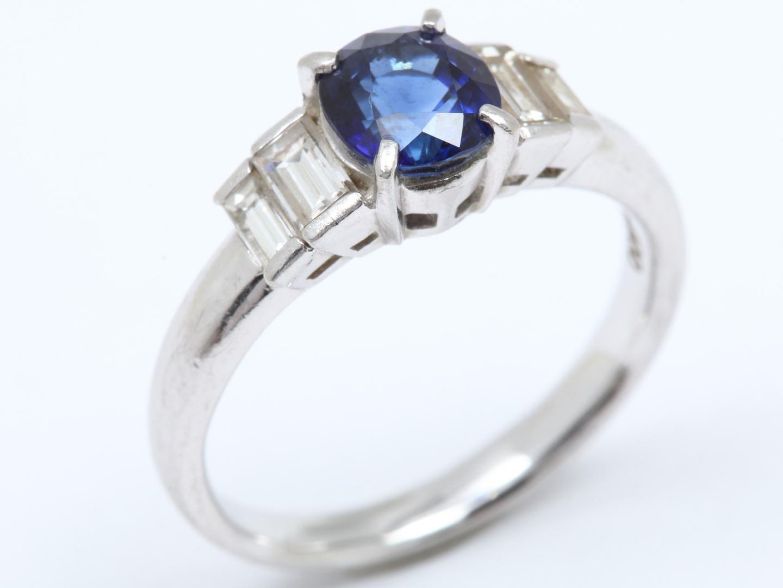 【中古】【送料無料】ジュエリー サフィア ダイヤモンド リング 指輪 レディース PT900 プラチナ x サファイア(1.24ct) x ダイヤモンド(0.49ct) | JEWELRY リング 美品 ブランドオフ BRAND OFF