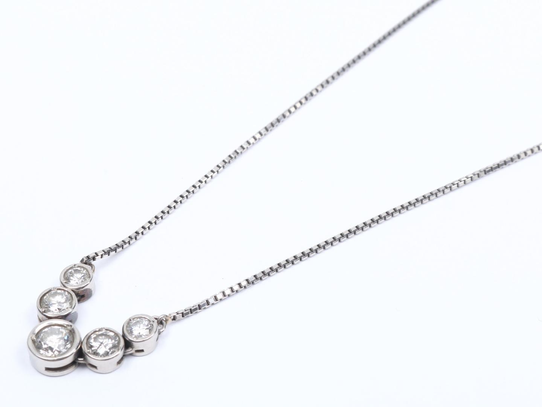 【中古】【送料無料】ジュエリー ダイヤモンド ネックレス レディース PT850 プラチナ x ダイヤモンド(1.0ct) | JEWELRY ネックレス 美品 ブランドオフ BRAND OFF