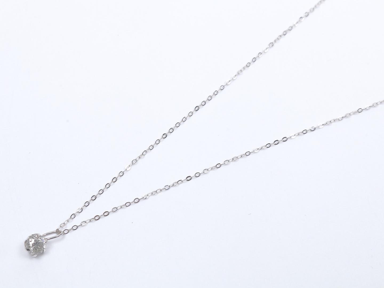 【中古】ジュエリー ダイヤモンド ネックレス レディース K18WG(750) ホワイトゴールド x ダイヤモンド(0.29ct) | JEWELRY ネックレス 美品 18K K18 18金 ブランドオフ BRAND OFF