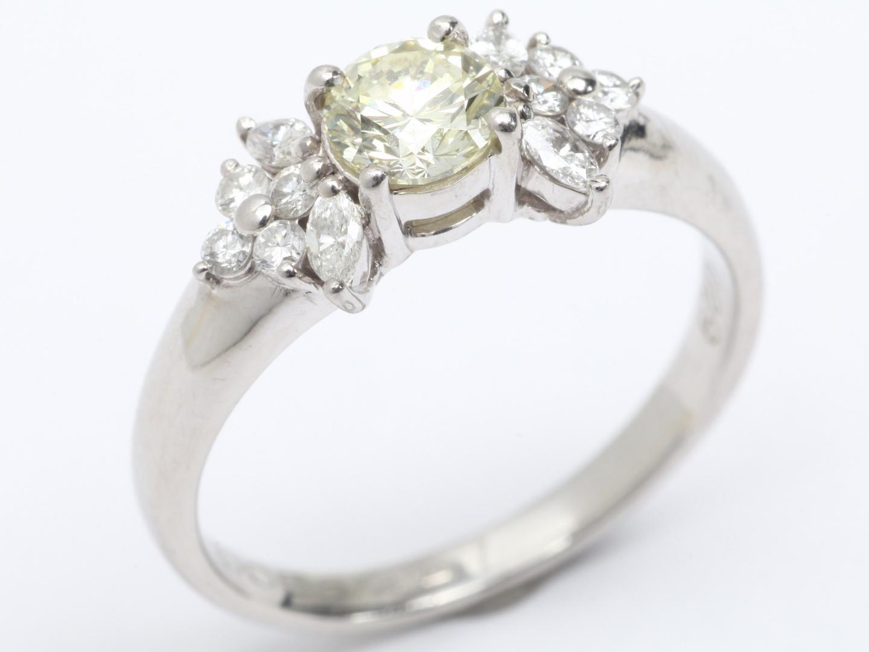 【中古】【送料無料】ジュエリー ダイヤモンド リング 指輪 レディース PT900 プラチナ x ダイヤモンド (0.515/0.29ct) | JEWELRY リング 美品 ブランドオフ BRAND OFF