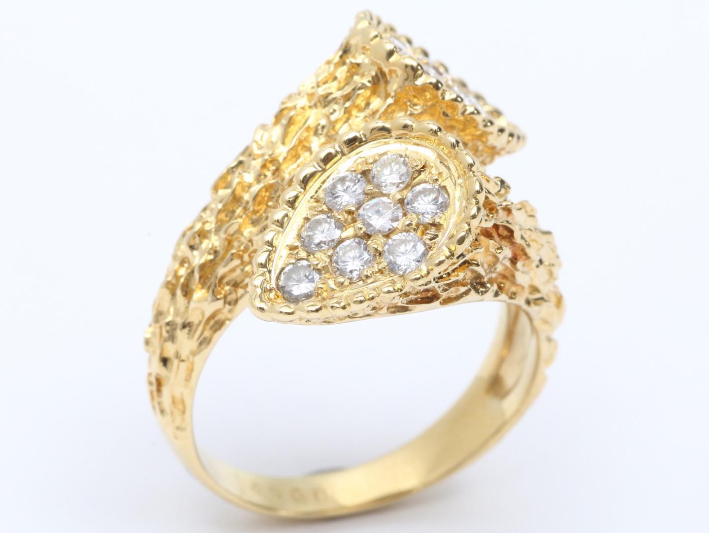 【中古】【送料無料】ジュエリー ダイヤモンド リング 指輪 レディース K18YG(750) イエローゴールド x ダイヤモンド (0.62ct) | JEWELRY リング 美品 18K K18 18金 ブランドオフ BRAND OFF