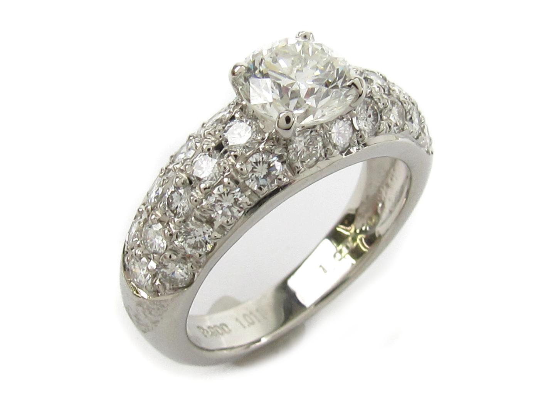 【中古】【送料無料】ジュエリー ダイヤモンド リング 指輪 レディース PT900 プラチナ x ダイヤモンド1.011ct | JEWELRY リング 美品 ブランドオフ BRANDOFF