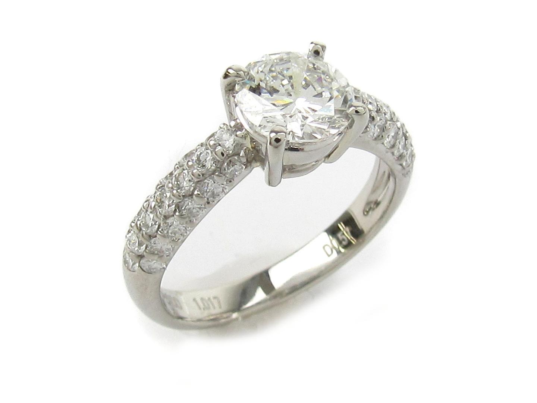 【中古】【送料無料】ジュエリー ダイヤモンド リング 指輪 レディース PT900 プラチナ x ダイヤモンド1.017/0.57ct | JEWELRY リング 美品 ブランドオフ BRANDOFF