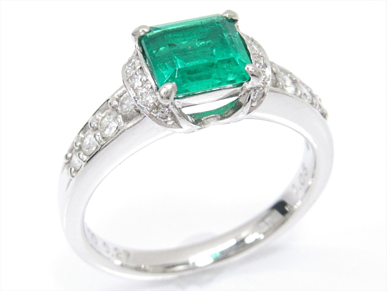 【中古】【送料無料】ジュエリー エメラルドリング 指輪 レディース PT900 プラチナxエメラルド(1.05ct)xダイヤモンド(0.27ct) | JEWELRY リング 美品 ブランドオフ BRAND OFF