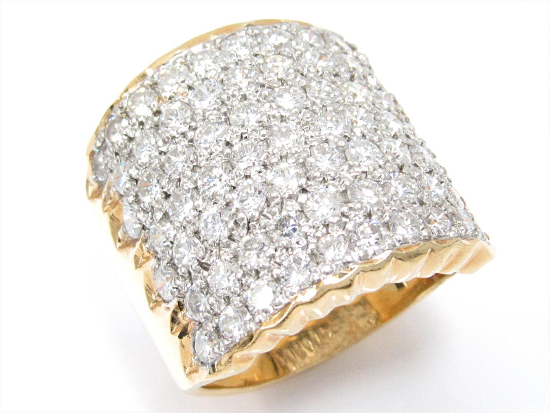 【中古】【送料無料】ジュエリー ダイヤモンドリング 指輪 レディース K18YG(750) イエローゴールドxPT900(プラチナ)xダイヤモンド(2.51ct) | JEWELRY リング 美品 18K K18 18金 ブランドオフ BRAND OFF