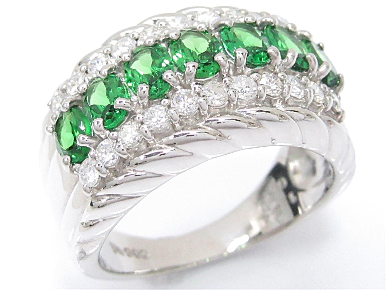 【中古】【送料無料】ジュエリー ガーネットリング 指輪 レディース PT900 プラチナxガーネット(1.24ct)xダイヤモンド(0.50ct) | JEWELRY リング 美品 ブランドオフ BRAND OFF