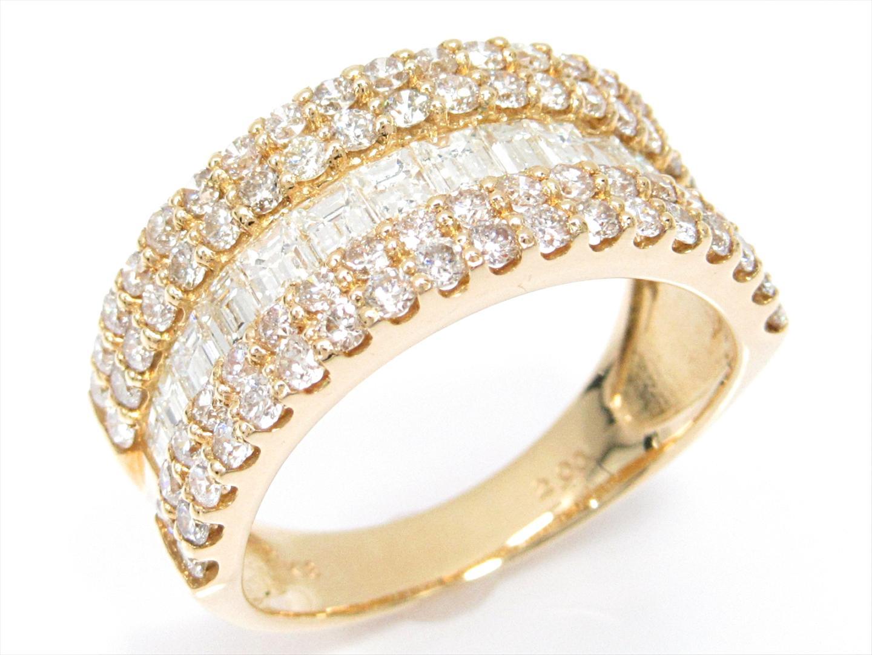 【中古】【送料無料】ジュエリー ダイヤモンドリング 指輪 レディース K18YG(750) イエローゴールドxダイヤモンド(2.00ct)   JEWELRY リング 美品 18K K18 18金 ブランドオフ BRAND OFF