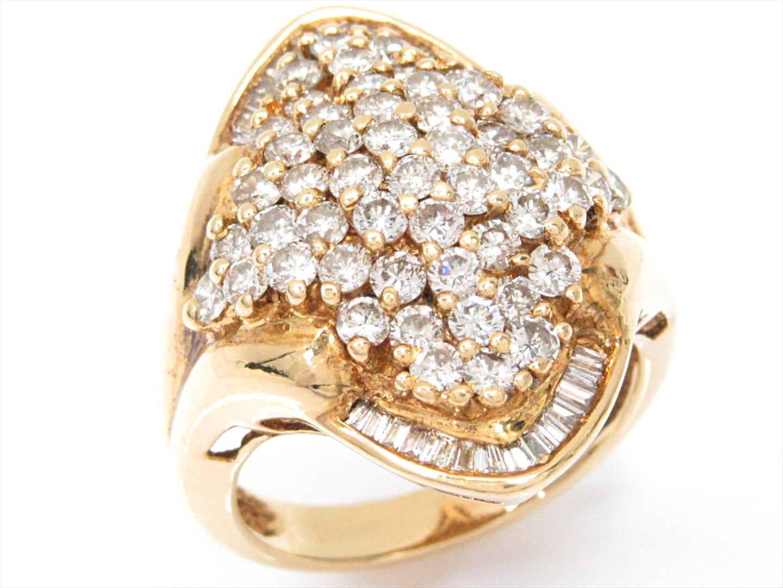 【中古】【送料無料】ジュエリー ダイヤモンドリング 指輪 レディース K18YG(750) イエローゴールドxダイヤモンド(2.09ct) | JEWELRY リング 美品 18K K18 18金 ブランドオフ BRAND OFF