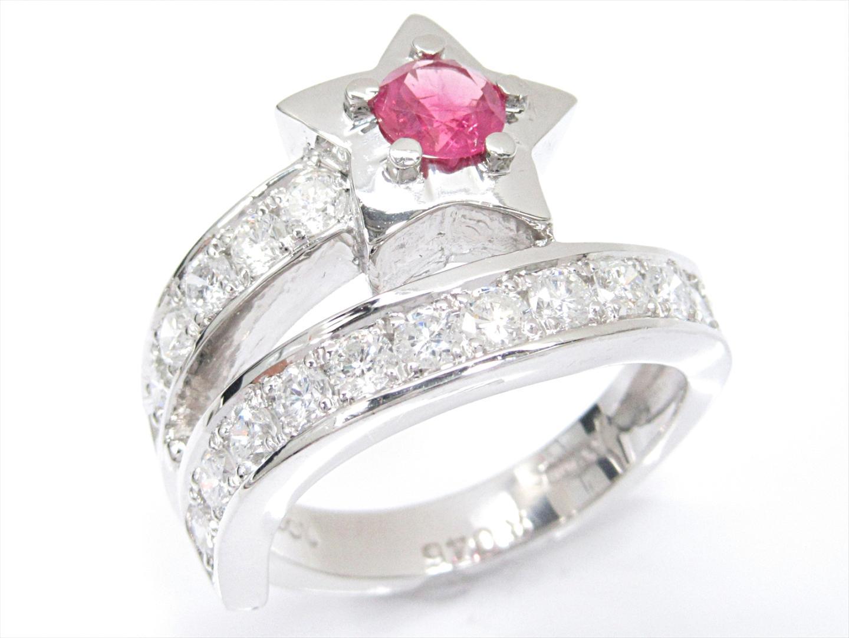 【中古】【送料無料】ジュエリー ルビーリング 指輪 レディース PT900 プラチナxダイヤモンド(1.00ct)xルビー(0.46ct) | JEWELRY リング 美品 ブランドオフ BRAND OFF