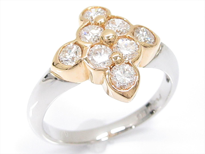 【中古】【送料無料】ジュエリー ダイヤモンドリング 指輪 レディース PT900 プラチナxK18YG(750)イエローゴールドxダイヤモンド(1.01ct) | JEWELRY リング 美品 18K K18 18金 ブランドオフ BRAND OFF