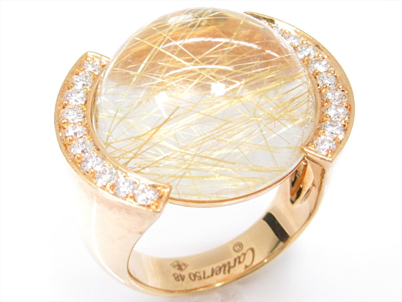 【中古】【送料無料】カルティエ ダイヤモンドリング 指輪 レディース K18YG(750) イエローゴールドxダイヤモンド(石目なし) | Cartier リング ジュエリー 美品 18K K18 18金 ブランド ブランドオフ BRAND OFF