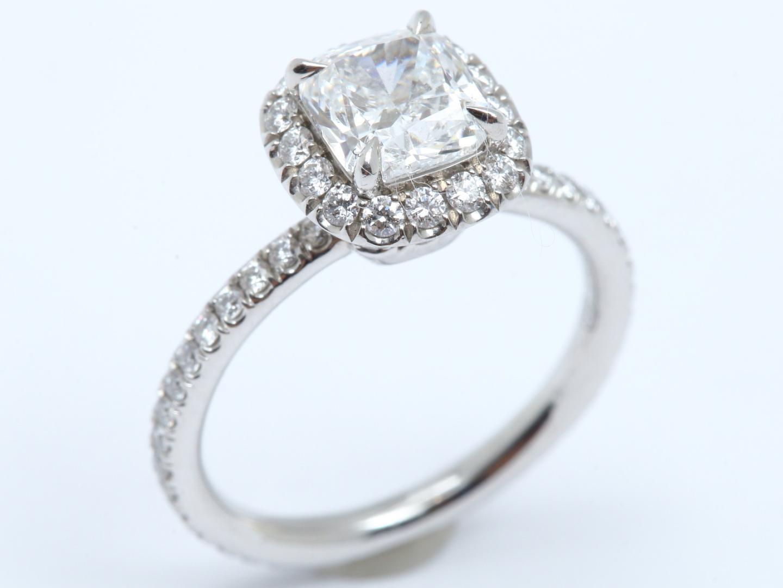 【中古】【送料無料】ハリーウィンストン ダイヤモンド リング 指輪 レディース PT950 プラチナ x ダイヤモンド(1.01ct) | HARRY WINSTON リング ジュエリー 美品 ブランド ブランドオフ BRAND OFF