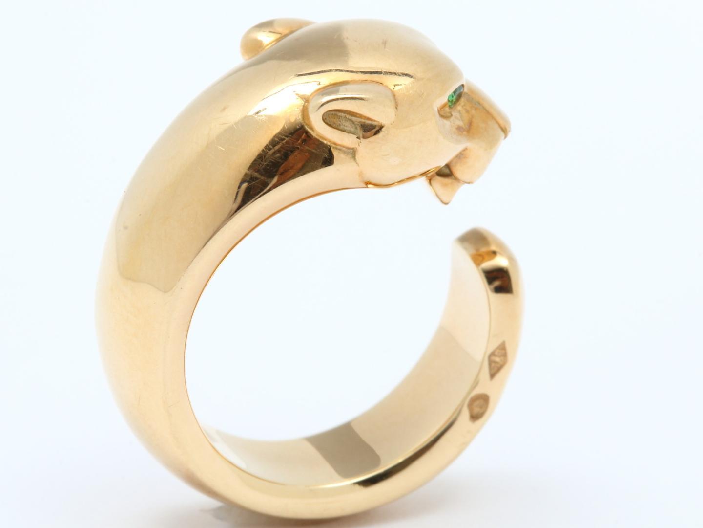 【中古】【送料無料】カルティエ パンテール リング 指輪 レディース K18YG(750) イエローゴールド x エメラルド | Cartier リング ジュエリー 美品 18K K18 18金 ブランド ブランドオフ BRAND OFF