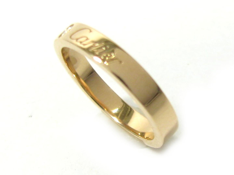 【中古】【送料無料】カルティエ エングレーブド1Pダイヤ レディース K18PG(750) ピンクゴールド ピンクゴールド (YH9184) | Cartier リング ジュエリー 美品 18K K18 18金 ブランド ブランドオフ BRAND OFF