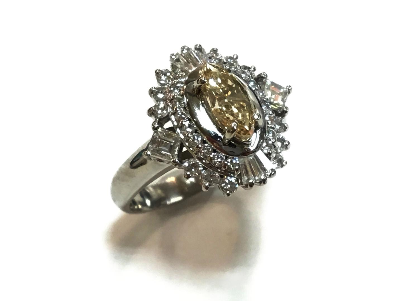 【中古】【送料無料】ジュエリー ブラウン ダイヤモンド リング 指輪 レディース PT900 プラチナxダイヤモンド0.685ctx0.82ct クリアーxシルバー | JEWELRY リング 美品 ブランドオフ BRAND OFF