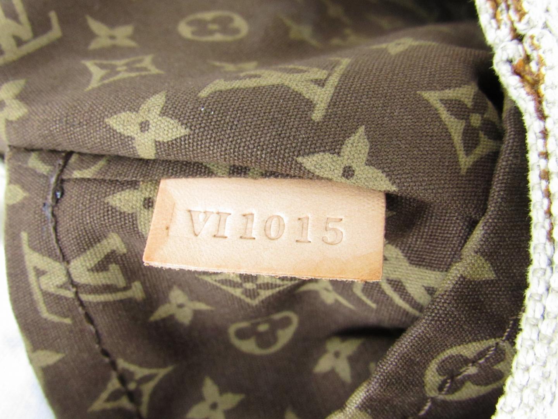 【】ルイヴィトンクルーズライングローブショッパーMMトートバッグユニセックスコットンナチュラル×イエロー×ブラウン(M95113)