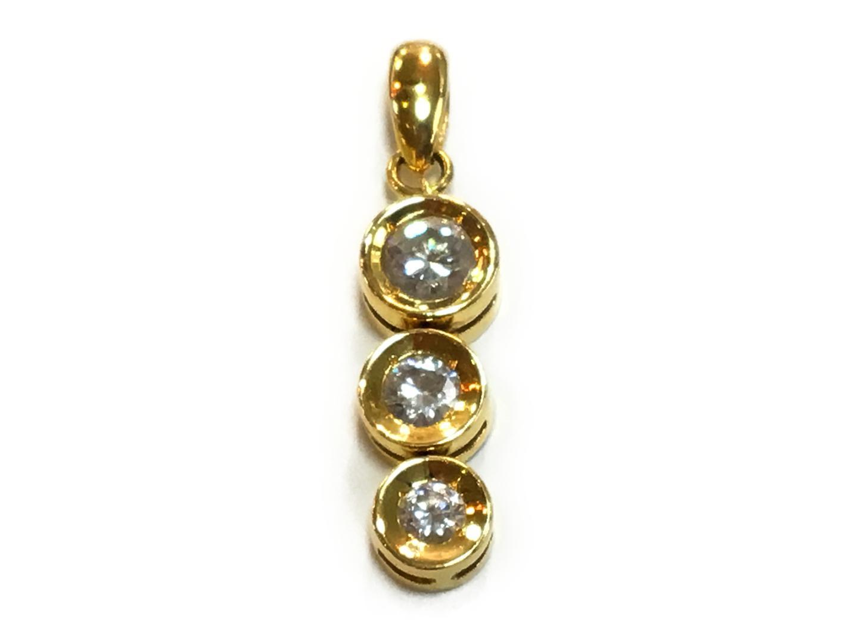 【中古】【送料無料】ジュエリー ダイヤモンド トップ メンズ レディース K18YG(750) イエローゴールドxダイヤモンド0.50ct クリアーxゴールド   JEWELRY トップ 美品 18K K18 18金 ブランドオフ BRAND OFF