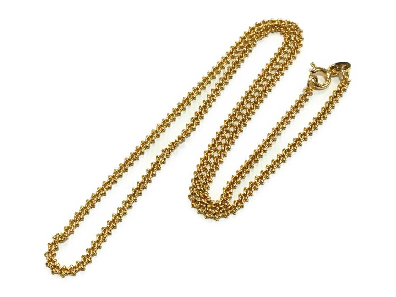 【中古】【送料無料】ジュエリー デザイン ネックレス メンズ レディース K18YG(750) イエローゴールド ゴールド | JEWELRY ネックレス 美品 18K K18 18金 ブランドオフ BRAND OFF
