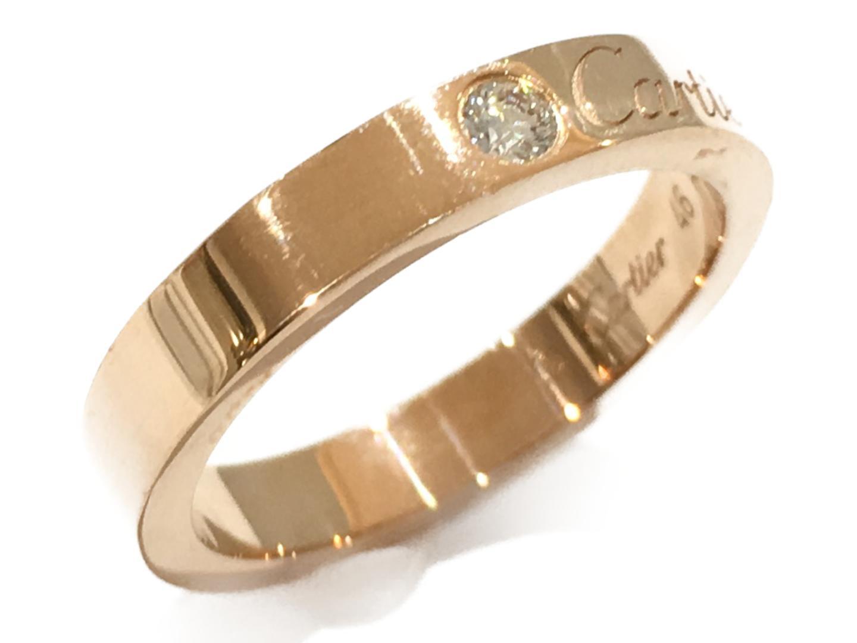 【中古】【送料無料】カルティエ エングレーブドリング 指輪 レディース K18PG(750) ピンクゴールド×ダイヤモンド | Cartier リング ジュエリー 美品 18K K18 18金 ブランド ブランドオフ BRAND OFF
